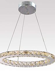 Недорогие -светодиодный хрустальный потолочный светильник скрытого монтажа подвесной светильник круг 1 кольцо оттенок хрустальные люстры с регулируемой яркостью регулируемый подвесной светильник для спальни