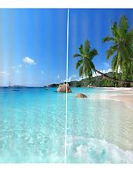 Недорогие -свет роскошная цифровая печать природный ландшафт простая установка занавес влагостойкие гостиная полиэфирная ткань занавес