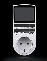 Недорогие -электронный цифровой таймер 24 часа циклический ес вилка кухонный таймер программируемая розетка 220 В