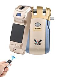 Недорогие -Вафу цифровой код отпечатков пальцев замок безопасности удаленного дома замок (wf-010b) для деревянной двери стеклянная дверь защитная дверь