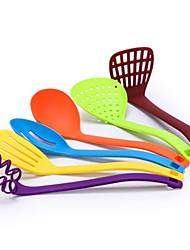 Недорогие -Нейлоновое волокно Силиконовые Кулинарные принадлежности Настенное крепление Heatproof Новое поступление Кухонная утварь Инструменты Для приготовления пищи Посуда приготовление еды 6шт