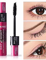 Недорогие -красивое натуральное 3d волокно водостойкое длинная черная тушь для ресниц длинные керлинг ресницы с двойным эффектом тушь для ресниц макияж глаз