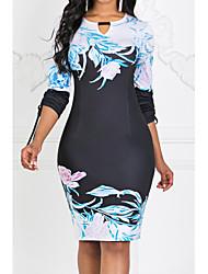 Χαμηλού Κόστους -γυναικείο φόρεμα με γόνατο μαύρο s m l xl