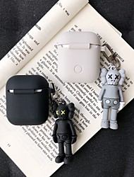 cheap -Case For AirPods Shockproof / Pattern / Cool Headphone Case Soft