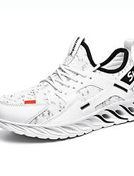 Недорогие -Муж. Комфортная обувь Tissage Volant Наступила зима Спортивные / На каждый день Спортивная обувь Беговая обувь / Для прогулок Дышащий Черно-белый / Черный / Красный / Белый