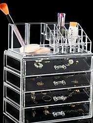 Недорогие -Место хранения организация Косметологический макияж пластик Прямоугольная форма Многослойный