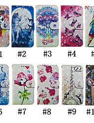 Недорогие -Кейс для Назначение Huawei Huawei Nova 3i / P smart / Huawei P Smart Plus Кошелек / Бумажник для карт / со стендом Чехол Бабочка / 3D в мультяшном стиле / Цветы Твердый Кожа PU