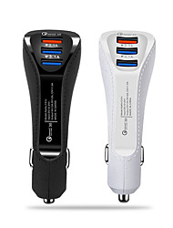 Недорогие -QC 3.0 автомобильный заряд 5a 3-портовый USB автомобильный адаптер