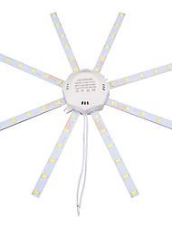 Недорогие -Loende 2pack светодиодные лампы для потолочных светильников 5730smd 48led 24 Вт 220-240 В 900lm высокая яркая лампа гостиная светодиодный энергосберегающий купольный свет внутреннего освещения