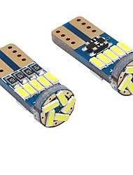 Недорогие -100 шт. / Лот T10 светодиодные W5W Canbus T10 15led 3014SMD без ошибок 194 168 габаритные фонари интерьер инструмент лампочка пластина лампы dc12v