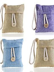 Недорогие -милая бамбуковая сумка с подвеской&усилитель; кнопка очистки воздуха для автомобильного дома кабинета поглотитель запаха (случайный цвет)