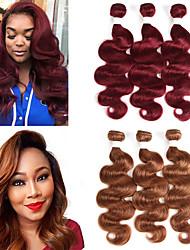 Недорогие -3 Связки Бразильские волосы Естественные кудри человеческие волосы Remy Накладки из натуральных волос 10-26 дюймовый Ткет человеческих волос Мягкость Лучшее качество Новое поступление