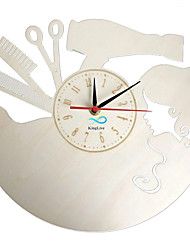 Недорогие -парикмахер парикмахерская салон красоты салон настенные часы из дерева домашний декор стен искусство
