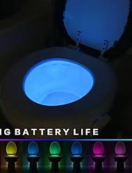 Недорогие -1 комплект Туалетный свет Цветной Аккумуляторы AAA Меняет цвета / Датчик человеческого тела 4.5 V