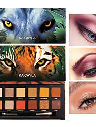 abordables -12 colores de sombra de ojos tigre cerdo hielo lobo animal doce colores mate nacarado sombra de ojos maquillaje duradero