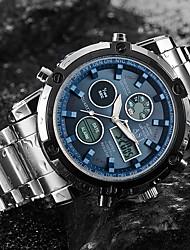 Недорогие -ASJ Муж. Спортивные часы Наручные часы электронные часы Японский Кварцевый Нержавеющая сталь Белый 30 m Защита от влаги Секундомер ЖК экран Аналого-цифровые Мода Нарядные часы - Белый Черный Синий
