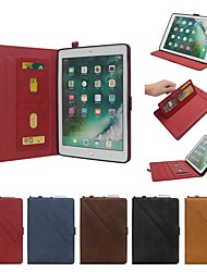 cheap -Case For Apple iPad Pro 10.5 / iPad New Air(2019) Flip / with Stand / Shockproof Full Body Cases Solid Colored Hard Genuine Leather for iPad Pro 10.5 / iPad New Air(2019)