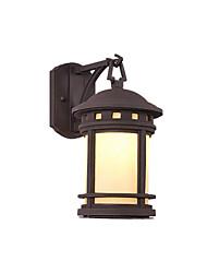 Недорогие -настенный светильник ретро колонка головной светильник водонепроницаемый наружный акриловый и металлический настенный светильник наружные ворота дверь столба настенный пейзаж бра
