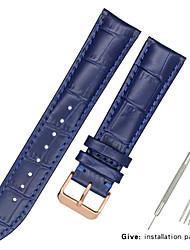 Недорогие -Настоящая кожа / Кожа / Шерсть теленка Ремешок для часов Ремень для Черный / Белый / Синий Прочее / 17см / 6,69 дюйма / 19cm / 7.48 дюймы 1.2cm / 0.47 дюймы / 1.3cm / 0.5 дюймы / 1.4cm / 0.55 дюймы
