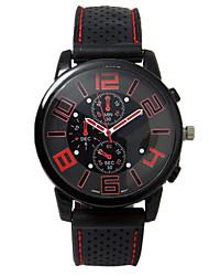 Недорогие -Нарядные часы силиконовый Аналоговый Красный Зеленый / Нержавеющая сталь
