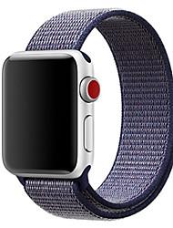 Недорогие -ремешок для яблочных часов series4 / 3/2/1 38 / 40mm 42 / 44mm нейлоновый мягкий дышащий сменный ремешок спортивная петля для серии iwatch