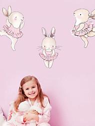 Недорогие -нордические животные танец кролика декоративные обои декоративные наклейки на стены - наклейки на стены животных / наклейки на стену самолета натюрморт / животные детская комната / питомник