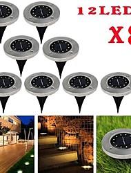 Недорогие -Brelong 12leds солнечный подземный свет открытый водонепроницаемый газон 8 шт