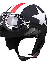 Недорогие -мотоциклетный шлем унисекс с защитной маской на половину лица