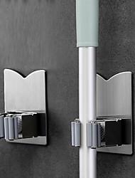 Недорогие -2 шт. Многофункциональный бесследный присоски крюк держатель для швабры настенный кухня ванная комната на присоске тряпка / метла / швабра держатель для хранения