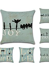 Недорогие -1 штук Лён Наволочка, Слова / выражения Современный стиль Любовь Мода Бросить подушку