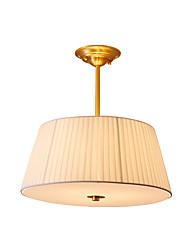 Недорогие -nordic простой подвесной светильник ткань тени спальня прихожая потолочный светильник полу скрытого монтажа круглой формы антикварные подвесные светильники латунный корпус лампы для спальни белый