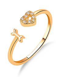 Недорогие -Для пары Кольцо 1шт Золотой Серебряный Медь Праздники Бижутерия