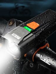 Недорогие -Светодиодная лампа Велосипедные фары Передняя фара для велосипеда Фонарь Велоспорт Велоспорт Водонепроницаемый Супер яркий Безопасность Большой угол 900 lm Перезаряжаемый USB 18650 Белый
