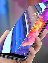 Недорогие -Кейс для Назначение Huawei Huawei P20 / Huawei P20 Pro / Huawei P20 lite Защита от удара / со стендом / Зеркальная поверхность Чехол Однотонный ПК