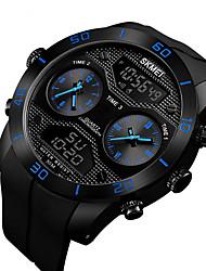 Недорогие -Муж. электронные часы Цифровой Спортивные Pезина Черный 30 m Защита от влаги Календарь Фосфоресцирующий Аналого-цифровые На открытом воздухе - Черный Красный Синий Два года Срок службы батареи