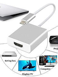 Недорогие -USB 3.1 Type C Кабель-переходник / Адаптер, USB 3.1 Type C к HDMI 1.4 Кабель-переходник / Адаптер Male - Female