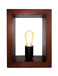 Недорогие -Светодиодные настольные лампы для чтения Куба Shademodern Простые настольные светильники Деревянное американское Простота прикроватный кабинет Освещение комнаты