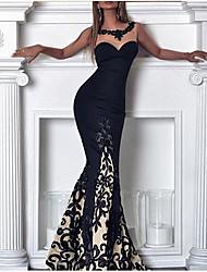 Недорогие -Жен. Богемный Элегантный стиль Облегающий силуэт Платье - Цветочный принт, Кружева Макси