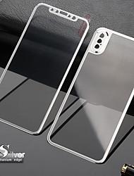 Недорогие -3d изогнутая передняя крышка из закаленного стекла полная защита экрана замена корпуса крышка из титанового сплава iphone xs max / xr / xs / x / 7 / 7s / 8 / 8s plus