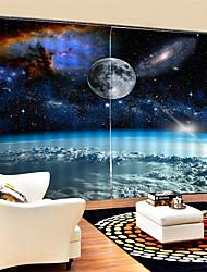 Недорогие -3d цифровая печать современная конфиденциальность две панели пользовательские полиэфирные шторы для мальчиков / гостиной декоративные декоративные водонепроницаемый пылезащитные шторы высокого