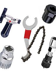 Недорогие -Наборы для ремонта Гаечный ключ для велосипедной цепи Съёмный ключ для маховика Многофункциональный Компактность Ремкомплект Износостойкий Прочный Назначение