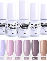 Недорогие -6 шт. Цвет 37-42 xyp выдержка уф / светодиодный гель лак для ногтей сплошной цвет лака для ногтей наборы