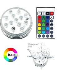 Недорогие -13 светодиодные погружные фонари с дистанционным управлением rgb меняется подводный водонепроницаемый фонари для пруда бассейн фонтан аквариум ваза джакузи ванна партия 1 упак.