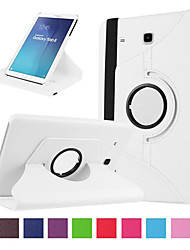 Недорогие -Кейс для Назначение SSamsung Galaxy Tab E 9.6 Бумажник для карт / Защита от удара Чехол Однотонный Твердый Кожа PU