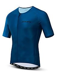 hesapli -JPOJPO Erkek Kısa Kollu Bisiklet Forması Koyu Mavi Bisiklet Tracksuit Forma Üstler Nefes Alabilir Spor Dalları Polyester Elastane Terylene Dağ Bisikletçiliği Yol Bisikletçiliği Giyim / Mikro-Esnek