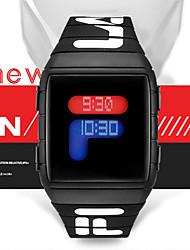Недорогие -Муж. электронные часы Цифровой Спортивные Стильные силиконовый Черный / Синий / Красный 30 m Защита от влаги Новый дизайн ЖК экран Цифровой На каждый день Мода - Черный Красный Синий / Один год