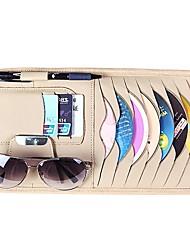 Недорогие -роскошный кожаный солнцезащитный козырек от солнца cd dvd держатель сумка карты карманный черный
