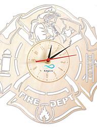Недорогие -пожарные настенные часы из дерева профессиональный декор товары жизни пожарная служба профессия дома художественные работы настенные часы