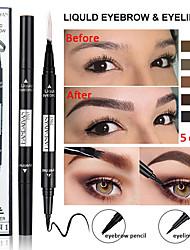 Недорогие -Карандаш для глаз с двойными бровями Водостойкий многофункциональный долговечный макияж для глаз «два в одном».