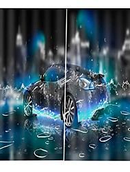 Недорогие -современная простая 3d печать многофункциональный утолщенный занавес из чистого полиэстера светозащитный водонепроницаемый занавески для ванной спальня гостиная многофункциональный занавес